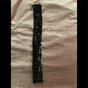 Black Sequin Belt 1970's